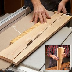 If you need to build a quick table, here's a great way to make the legs. Each leg is made from a 1x6, ripped to make two tapered pieces. Glue and nail (or screw) the two pieces together, sand as much as you feel is necessary, and you're done. The taper jig is quick to make, but it works only for this particular taper.