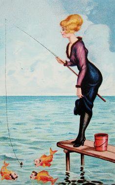 "postcardiva postcard blog: ""SUPERIOR WOMEN"" Early 1900s Postcards"