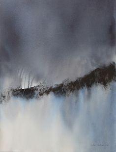 """""""Rupture"""" Aquarelle 56 x 73 cm Muriel Buthier-Chartrain / 2016 """"Break"""" Watercolor 56 x 76 cm Muriel Buthier-Chartrain / 2016"""