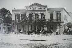 Menger Hotel, San Antonio, next to Alamo. President Lincoln stayed here and it is still standing and open for business today.