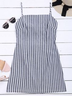 SHARE & Get it FREE | Self Tie Striped Cami Shift Dress - Stripe SFor Fashion Lovers only:80,000+ Items • New Arrivals Daily Join Zaful: Get YOUR $50 NOW!