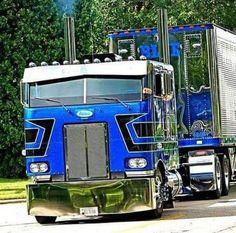Sweet looking Peterbilt COE Rig # Hauler # 18 Wheeler Show Trucks, Big Rig Trucks, Old Trucks, Pickup Trucks, Mack Trucks, Heavy Duty Trucks, Heavy Truck, Custom Big Rigs, Custom Trucks