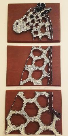 Giraffe String Art Wood Craft Patterns, String Art Patterns, Doily Patterns, Dress Patterns, Diy Crafts To Do, Arts And Crafts, Easy Crafts, Japanese Embroidery, Paper Embroidery