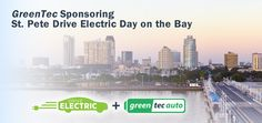 Electric vehicles from Chevrolet, BMW, General Motors, and Tesla will join a rally of custom-made cars and prototypes on Saturday, September 12th for St. Pete Drive Electric Day on the Bay. Local dealers will provide test-drives and rides on a two-mile stretch along the waterfront. The event is from 10 am to 4 pm at Spa Beach Park in downtown St. Petersburg, Florida and is part of National Drive Electric Week.  #GreenTecAuto #NDEW2015 #StPetersburg #ElectricCars #GreenTec