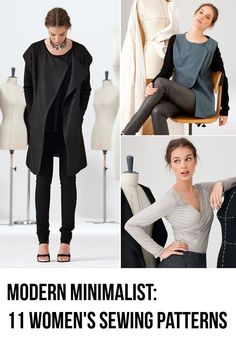 This sewing pattern collection from burda style magazine's October issue is a must see. These fashions are out of the ordinary. Unusual lines and minimalistic looks in fabrics both classic and modern shed new light on drapings, A-lines, and pleating techniques.