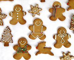 receta fácil de las galletas de Navidad de jengibre