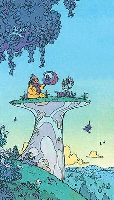 Jean Giraud was a French artist, cartoonist and writer who worked in the Franco-Belgian bandes dessinées tradition. Jean Giraud, Comic Books Art, Book Art, Illustrations, Illustration Art, Moebius Art, Comic Kunst, Science Fiction Art, Art Graphique