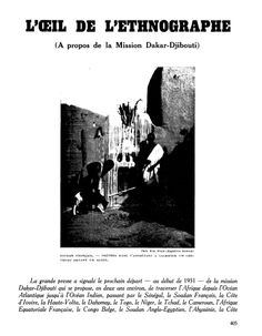 1erePage-article Revue Documents 7 Anthropology, Folklore, Movies, Movie Posters, Ideas, Films, Anthropologie, Film Poster, Film