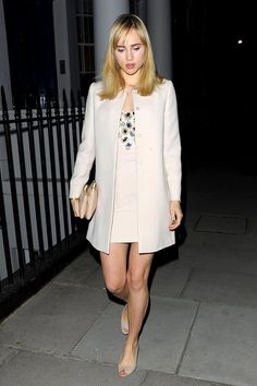 0f7496391434 Suki Waterhouse wearing Miu Miu – Chiltern Firehouse in Marylebone