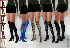 Sims 4 CC's - The Best: Boots by PQSIM4