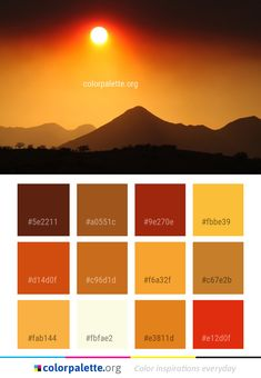 Sky Afterglow Sunrise Color Palette #colors #inspiration #graphics #design #inspiration #beautiful #colorpalette #palettes #idea #color #colorful #colorscheme #colorinspiration #colorcombinations #colorcombos #colorpalette_org Colour Pallete, Colour Schemes, Color Combos, Kitchen Color Palettes, Colours That Go Together, Sunrise Colors, Color Balance, Design Seeds, Color Swatches