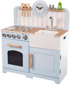 TIDLO Wooden Country Play Kitchen - this is a beauty! A belfast sink!!
