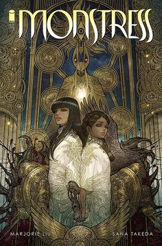 "Monstress Comic - ""...contemporary manga, traditional Japanese and Chinese design, ancient Egyptian art and Western art nouveau — plus a fertile bed of steampunk — for iconography and style"" artist Sana Takeda"