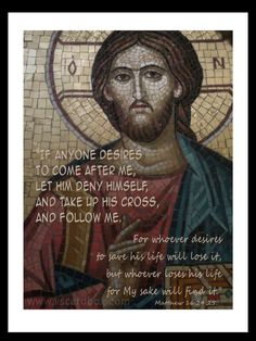 Matthew 16:24,25