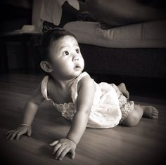 Baby in Sepia