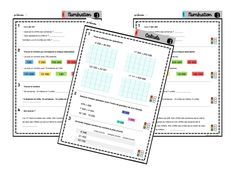 Gammes de maths CM1&CM2 School Organisation, 12th Maths, Autism Education, Cycle 3, Educational Activities, Fractions, A 17, Printable Planner, Kids Learning