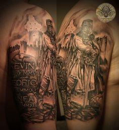 knight stone letterings by 2Face-Tattoo.deviantart.com on @deviantART