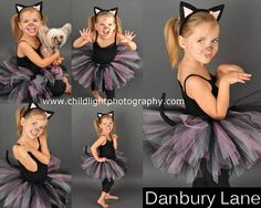 Cat Costume Halloween Toddler girls Tutu set Black by DanburyLane