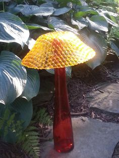 Glass Garden Mushroom 'Keep on Shroomin' by GardenArtistGa on Etsy, $55.00