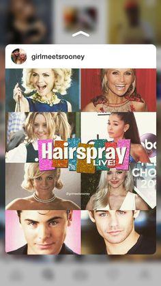 Hairspray Live! cast Hairspray Musical, Hairspray Live, Bae, Brittany Snow, Amanda Bynes, John Travolta, Zac Efron, Dove Cameron, Musical Theatre