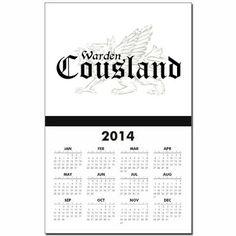 Dragon age cousland calendar 2014