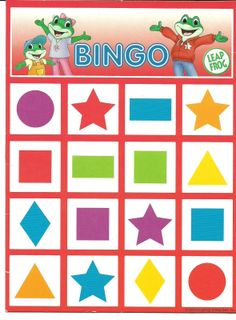 Photo: - Everything About Kindergarten Bingo Games For Kids, Craft Activities For Kids, Toddler Activities, Teaching Shapes, Best Educational Toys, Shape Crafts, Bingo Cards, Kindergarten Classroom, Letters And Numbers
