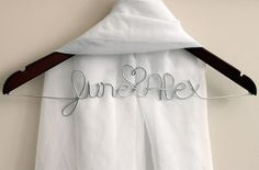 adorable personalized clothes hanger