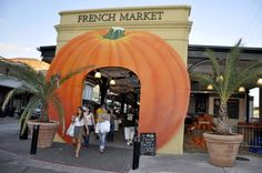 The French Market's Boo Carre Harvest Festival in New Orleans. Pumpkin Arch.