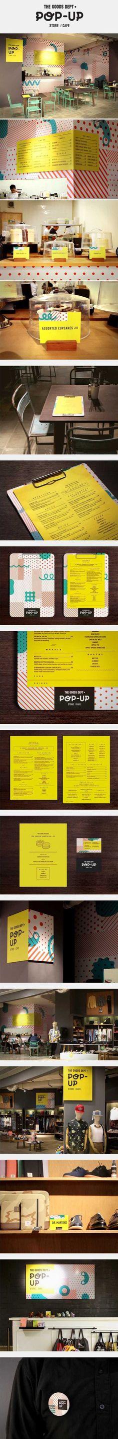 The Goods Dept Pop-Up Store/Cafe on Behance