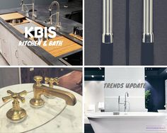 Kitchen and Bath trend update. New product introductions and a few classics.  Kitchen Design ideas