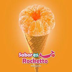 """Tan naturales y deliciosos como directo de la fruta!!! Prueba todos nuestros """"SABORes ROCKETTO"""" Mandarina... pídelo en helado o smoothie!"""