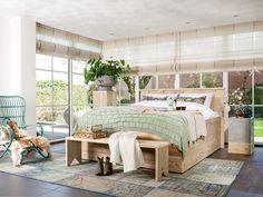 Steigerhouten bed Modern 3.0