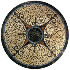 mosaic table tops   Lugano Mosaic Table Top Mosaic Crafts, Mosaic Projects, Mosaic Art, Mosaic Tiles, Table Mosaic, Stone Table Top, Mosaic Tile Designs, Bottle Cap Table, Mosaic Stepping Stones