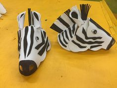 Lawrence Jones Middle School - Lion King Jr Zebra head. Made out of foam paper from Michael's crafts and hot glue