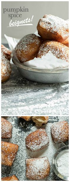 Pumpkin Spice Beignets. Warm and fluffy, perfect for breakfast! | Foodness Gracious
