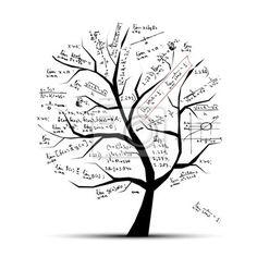 Papier peint arbre de maths pour votre conception - scolaire ...