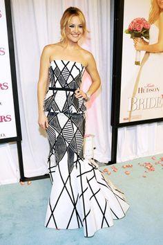 """Oscar de la Renta: In Honor Of a Legend. Kate Hudson, """"Bride Wars"""" Premiere, January 2009."""