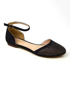 Love this Black Dalia Ankle-Strap Flat on #zulily! #zulilyfinds