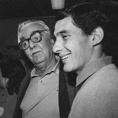 Ayrton Senna during an event in 1987 with Janio Quadros, mayor of Sao Paulo at the time.