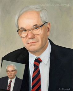 Ölgemälde des Künstlers Tomasz Mrowiński Poland  Oil portrait Portret olejny artysta Tomasz Mrowiński Polska