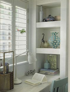 Refreshing home office space Office Nook, Home Office Space, Office Workspace, Home Office Decor, Home Decor, Room Inspiration, Interior Inspiration, Study Nook, Home And Living