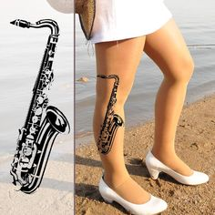 SAXOPHONE  Tattoo. Would look awesome as a side tattoo