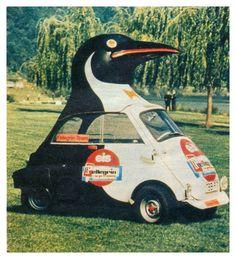 Strange Cars, Weird Cars, Cool Cars, Bmw Isetta, Bmw Classic Cars, Car Colors, Car Humor, Star Wars Art, Old Trucks