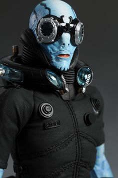 Abe Sapien from Hell Boy Talk about STEAM PUNK! Abe is my second choice for a future husband! Hellboy 2004, Hellboy Movie, Abe Sapien, Bald Cap, Steampunk, Fantasy Movies, Cosplay, Marvel Vs, Character Development