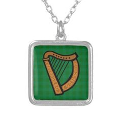 #Irish Celtic Harp #Saint Patricks Day/ Everyday #Jewelry