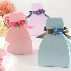 Bridesmaid Dress Favor Boxes