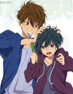 Natsuya kirishima and Ikuya kirishimea Cute Anime Boy, Anime Guys, Days Anime, Aho Girl, Tsurezure Children, Splash Free, Free Eternal Summer, Free Iwatobi Swim Club, Kyoto Animation
