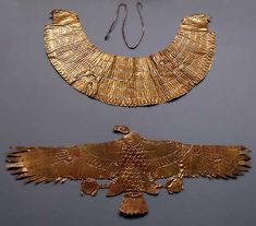 Egyptians adorned themselves with as much jewelry as they could afford. Pairs of bracelets were worn around the wrist or high on the arm, above the elbow. Rings and anklets were also worn. Women wore large round earrings and put bands around their heads or held their hair in place with ivory and metal hair pins. Ordinary people wore necklaces made of brightly colored pottery beads.