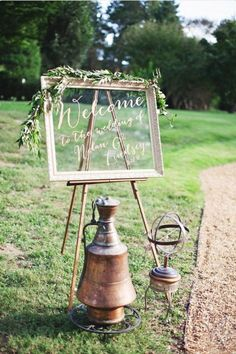 Great idea for welcome board