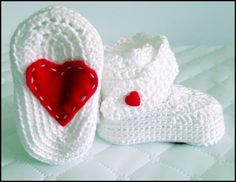 Love Crochet Booties by BambinaBaby on Etsy